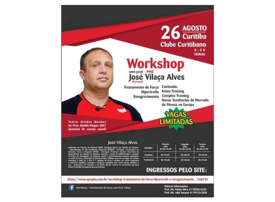 WORKSHOP TREINAMENTO DE FORÇA, HIPERTROFIA E EMAGRECIMENTO